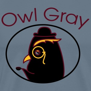 Owl Gray (b) - Men's Premium T-Shirt