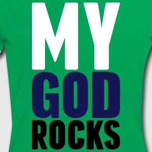 my god rocks 3 farb T-Shirts - Frauen Kontrast-T-Shirt