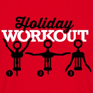 Holiday workout corkscrew T-Shirts - Men's T-Shirt