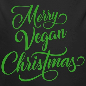 Merry Vegan Christmas Baby Bodys - Baby Bio-Langarm-Body