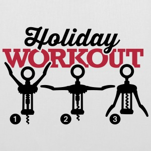 Holiday workout corkscrew Bolsas y mochilas - Bolsa de tela