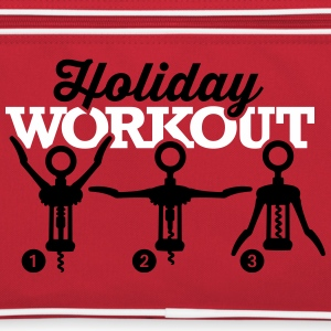Holiday workout corkscrew Bolsas y mochilas - Bandolera retro