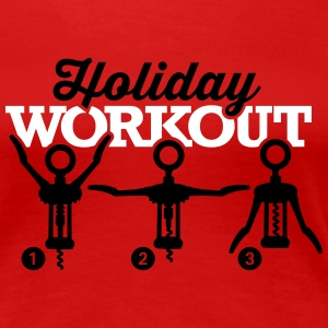Holiday workout corkscrew T-shirts - Vrouwen Premium T-shirt