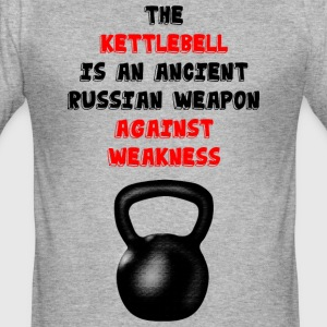Kettlebell vs. weakness T-Shirts - Männer Slim Fit T-Shirt