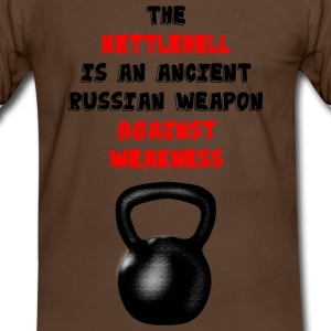 Kettlebell vs. weakness T-Shirts - Männer Kontrast-T-Shirt