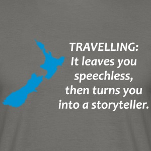 New Zealand - Map & Spruch - Männer T-Shirt
