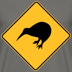 New Zealand - Kiwi Sign - Männer T-Shirt