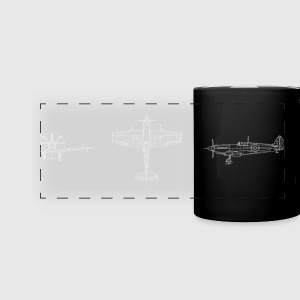 Spitfire airplane avion - Tasse panoramique en couleur