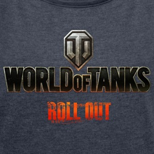 World of Tanks - Roll Out - Women's T-shirt with rolled up sleeves
