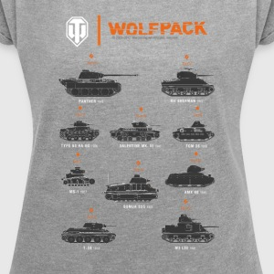 World of Tanks Wolfpack - Frauen T-Shirt mit gerollten Ärmeln