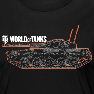 World of Tanks - Orange Outline Tank - Women's Premium Longsleeve Shirt