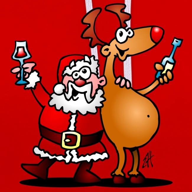 Sudadera Santa Claus y sus renos