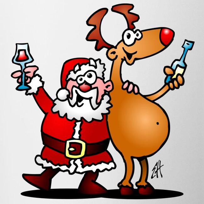 Taza Santa Claus y sus renos
