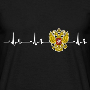 Heartbeat - Russia T-Shirts - Men's T-Shirt