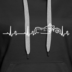 Heartbeat - Chopper Hoodies & Sweatshirts - Women's Premium Hoodie
