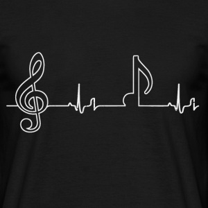 Heartbeat - Noten Shirt Herren - Männer T-Shirt