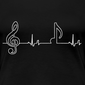 Heartbeat - notes T-Shirts - Women's Premium T-Shirt