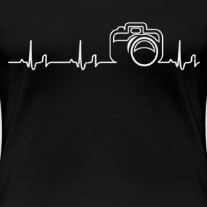 Heartbeat - camera T-Shirts - Women's Premium T-Shirt