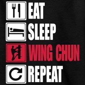 Eat-Sleep-WingChun-Repeat Skjorter - T-skjorte for tenåringer