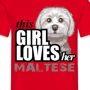 This Girl Loves her Maltese T-Shirts - Men's T-Shirt