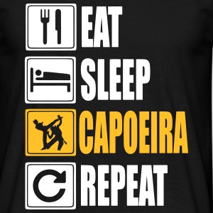 Eat-Sleep-Capoeira-Repeat T-skjorter - T-skjorte for menn