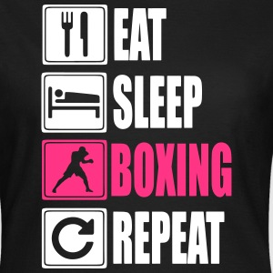 Eat-Sleep-Boxing-Repeat T-skjorter - T-skjorte for kvinner
