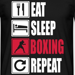 Eat-Sleep-Boxing-Repeat Magliette - Maglietta da uomo