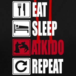 Eat-Sleep-Aikido-Repeat Hoodies & Sweatshirts - Contrast Colour Hoodie