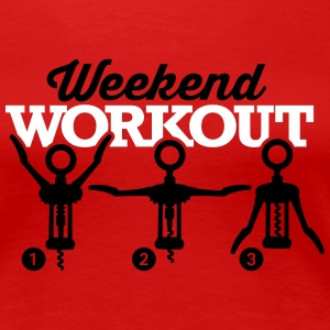 Weekend workout corkscrew T-skjorter - Premium T-skjorte for kvinner