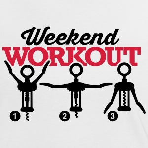 Weekend workout corkscrew Camisetas - Camiseta contraste mujer