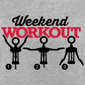 Weekend workout corkscrew T-skjorter - Oversize T-skjorte for kvinner