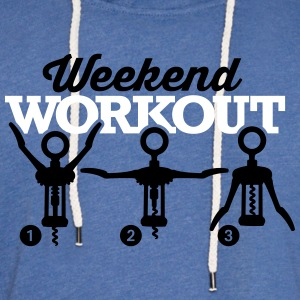 Weekend workout corkscrew Gensere - Lett unisex hette-sweatshirt