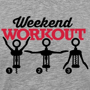 Weekend workout corkscrew T-Shirts - Männer Premium T-Shirt