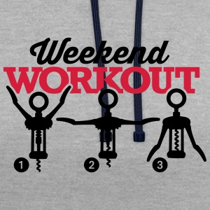 Weekend workout corkscrew Sweaters - Contrast hoodie