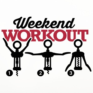 Weekend workout corkscrew Mugs & Drinkware - Coasters (set of 4)