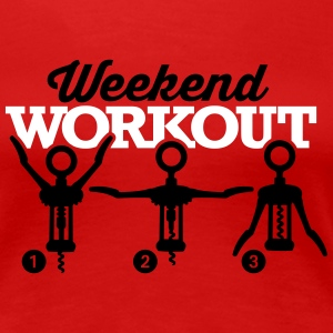 Weekend workout corkscrew T-shirts - Vrouwen Premium T-shirt