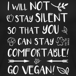 I will not stay silent ♥ Go vegan! - Frauen Bio Tank Top