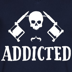 Tattoo addicted  T-Shirts - Men's V-Neck T-Shirt