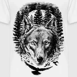 AD Wolf T-shirts - Teenager premium T-shirt