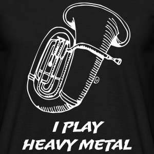 I Play Heavy Metal T-shirts - Herre-T-shirt