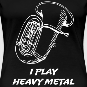 I Play Heavy Metal T-shirts - Premium-T-shirt dam