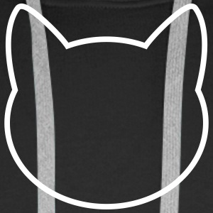 Cat Icon Outline Sweaters - Mannen Premium hoodie