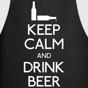 Keep Calm Drink Beer Delantales - Delantal de cocina