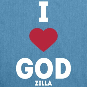 i heart god godzilla I love love sayings Bags & Backpacks - Shoulder Bag made from recycled material