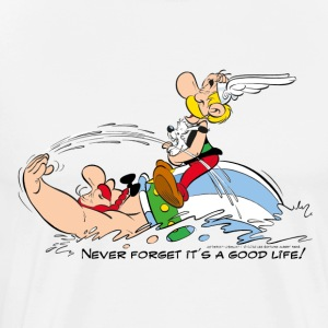 Asterix & Obelix - Never Forget It's A Good Life! - Premium T-skjorte for menn