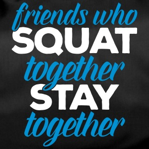 Friends Who Squat Gym Quote Tassen & rugzakken - Sporttas