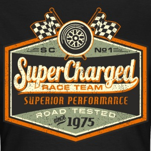 SSD Super Chaged RAHMENLOS Race Team Biker Motorcycle Design 1975 Road Tested T-Shirts - Frauen T-Shirt