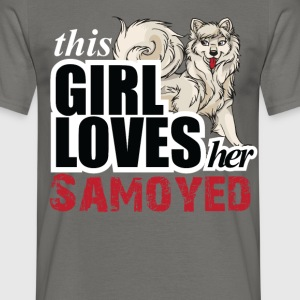 This Girl Loves Her Samoyed T-Shirts - Men's T-Shirt