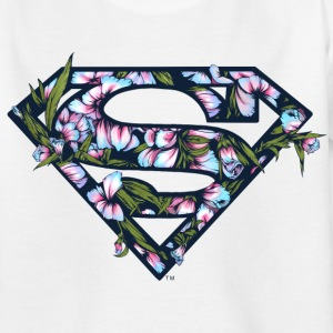 DC Comics Superman Classic Logo Flowers - T-shirt barn
