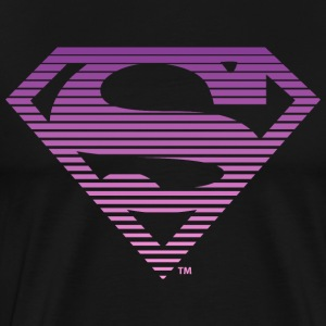 DC Comics Superman Classic Logo Striped - Premium-T-shirt herr
